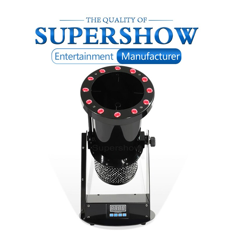2Pcs 1200W DMX Control Confetti Blower Machine LED Stage Special Effect Lighting For Wedding Disco Party Effect