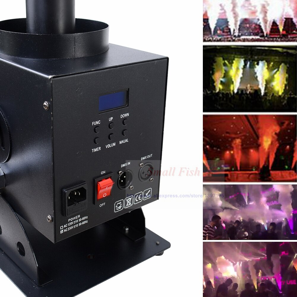 Free Shipping 4 Pcs/Lot 12X3W 3in1 Led Co2 Jet Machine LED Co2 Cryo Jet Confetti Cannon For Bar DJ Disco Patry Stage Lights