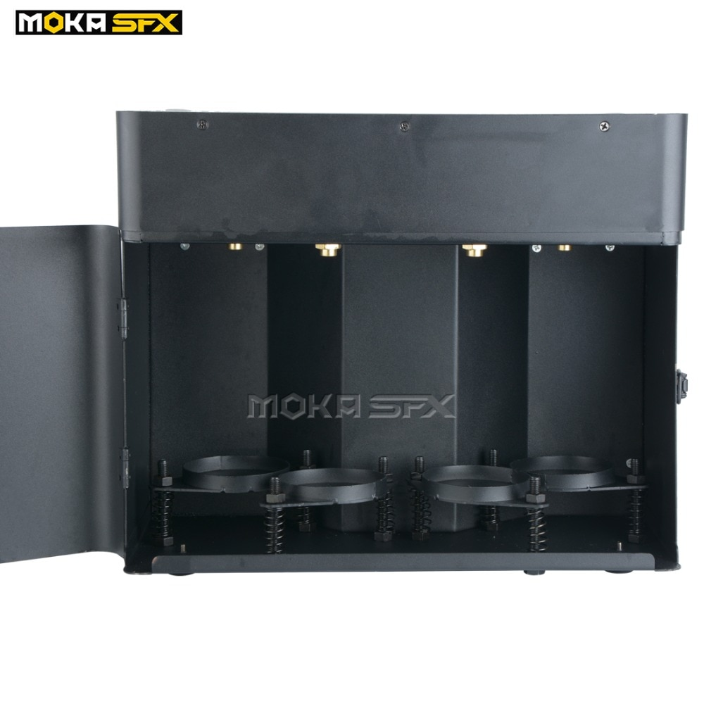 2pcs with Flycase Newest Hi big flame machine jet 6m flame projector 4 shot stage effect dmx fire machine for big event