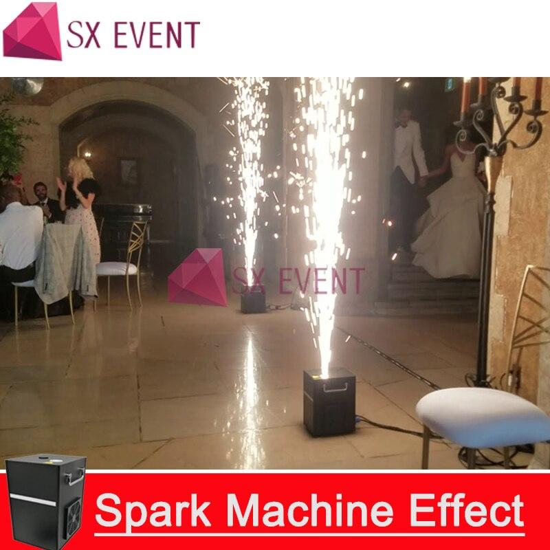 2pcs/lots Professional dmx stage cold spark fountain machine titanium powder fire machine for wedding spray 1-5m CE RoHS FCC