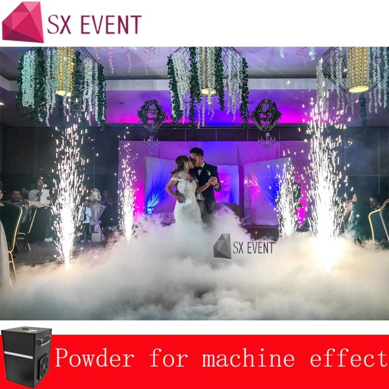 2pcs Machine With Flight Case 400w Cold Fire Spark Firework Fountain Machine Dmx And Remote Control For Wedding DJ Stage Effect