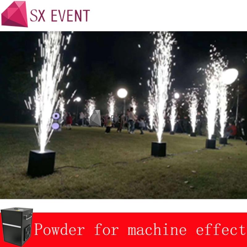 2pcs Cold Fire Fountain Machine And 10 Bags Powder 400W Spark Dmx Remote Control Smokeless Stage Effect Wedding Machine