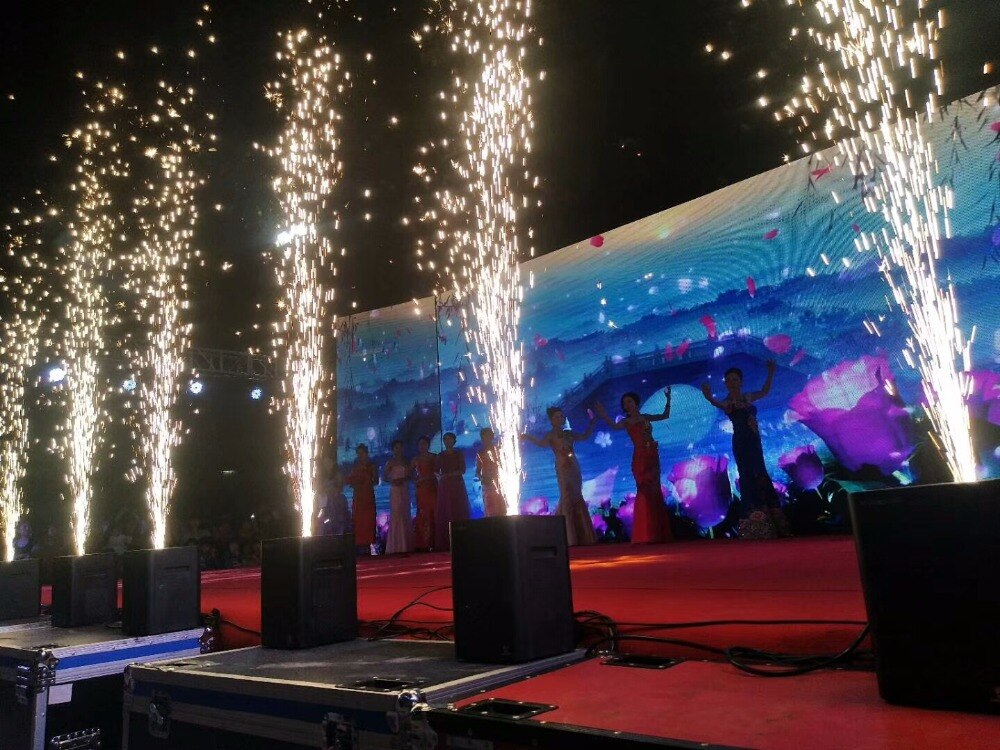 1UNITS 700w electric sparkler flame FIRE machine FOR WEDDING PARTY EVENT STAGE LIGHTING EFFECT  +6pcs powder