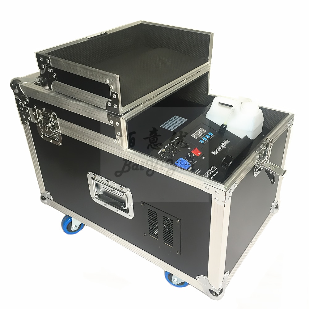 1pc Powerful 4000W Water Fog Machine 4KW Water Based Low Ground Fog Smoke Machine With Double Hose Outlet For Wedding Party