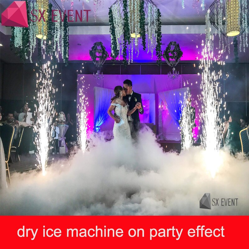 Hot sell high power 3500W dry ice low ground fog machine stage effect party with 3m tube for party wedding dj