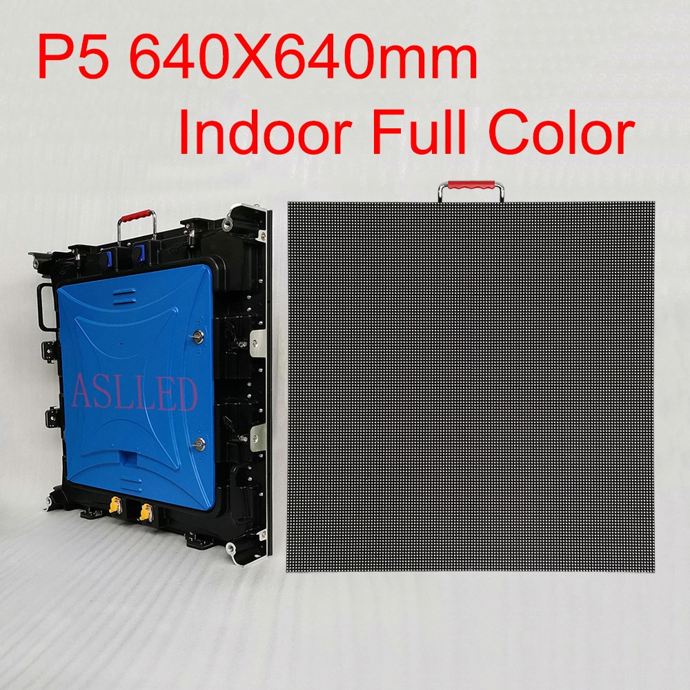Indoor P5 HD Full Color LED Advertising Large Screen 640X640mm Die-Cast Aluminum Cabinet LED Sign Ali Express Free Shipping