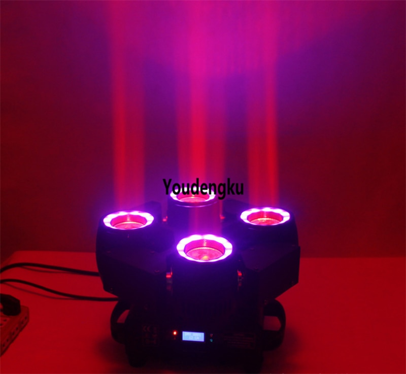 8pcs Infinity rotating led beam 4 movinghead light 4x40 w rgbw 4in1 sharpy led spider beam moving head stage dj light