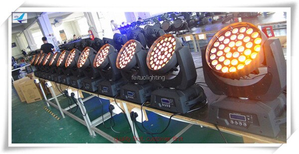 (2/lot) Disco Lyre 36x15w Multichips Zoom LED Wash Moving Head China rgbwa 5 in 1 movinghead light