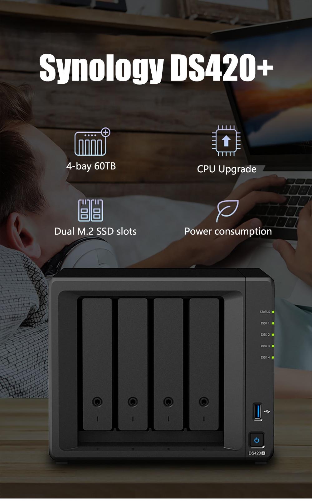 Synology DS420+ NAS 4 bays Network Cloud Storage Server Diskless