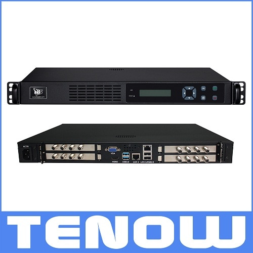 TBS2951 Professional IPTV Streaming Server with 1 x DVB-S2/S2X octa tuner card TBS6909X for Live Broadcast Relay DVB-S2 to LAN