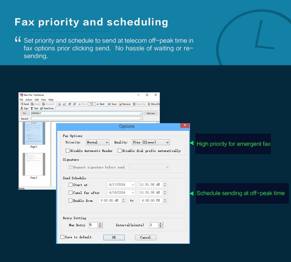 CimFAX T5S Fax Server Fax2email V.34 Fax from PC to Fax Machines/Server/Client/Online Fax 200 Users 16GB storage