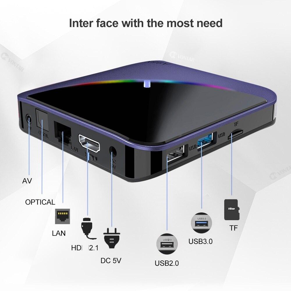 A95x F3 50pcs RGB Light Android TV Box Android 9.0 Amlogic S905X3 Smart TV Box USB3.0 H.265 8K 60fps  Y0utube Plex Media Server