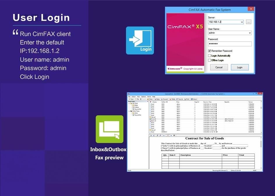 CimFAX W5S Fax Server Fax2email V.34 Fax from PC to Fax Machines/Server/Client/Online Fax 400 Users 32GB storage