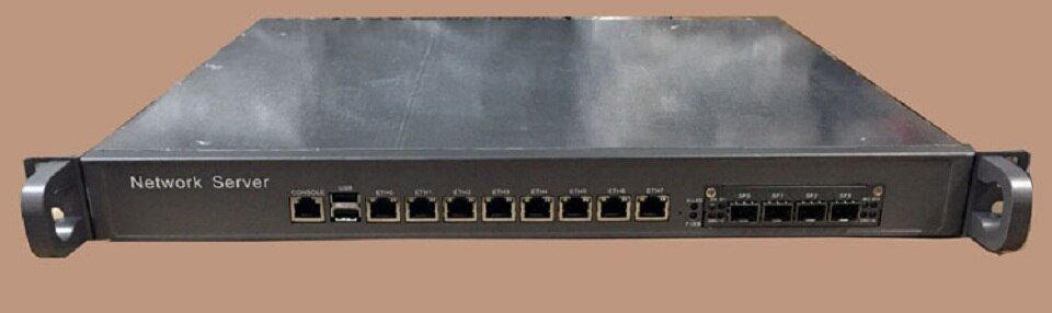 Intel Core i3 4160 3.6Ghz 1U Case Network Firewall Appliance Network Security Router Server with 8 ports Gigabit lan 4 SPF