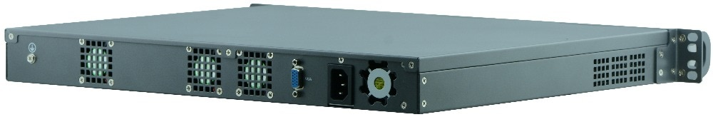 19 inch standard 1U server Core i5 8400 with 8*NICs and 4*Fiber SFP 10000M LAN for Firewall Appliance Network Security computer
