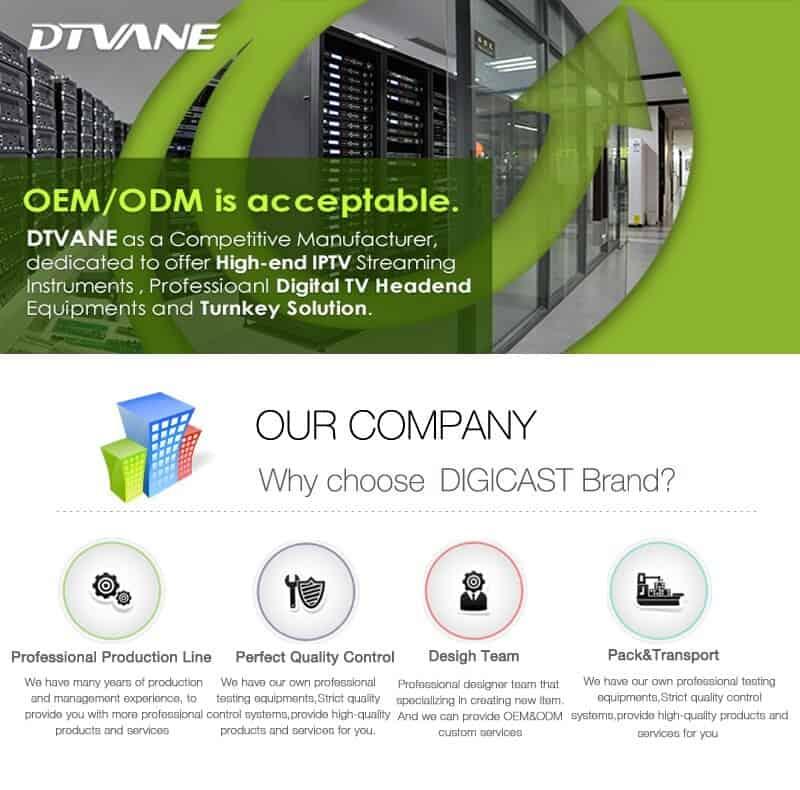 (DMB-9008B) Digicast Video Server Exporter Satellite DVB-C Internet TV Digital Receiver