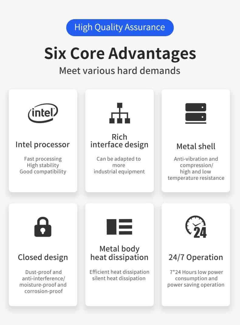 Intel i7 9700 Dual Core I3 9100 8LAN 2USB 1COM 1U Network Server Firewall Appliance  Pfsense Soft Router
