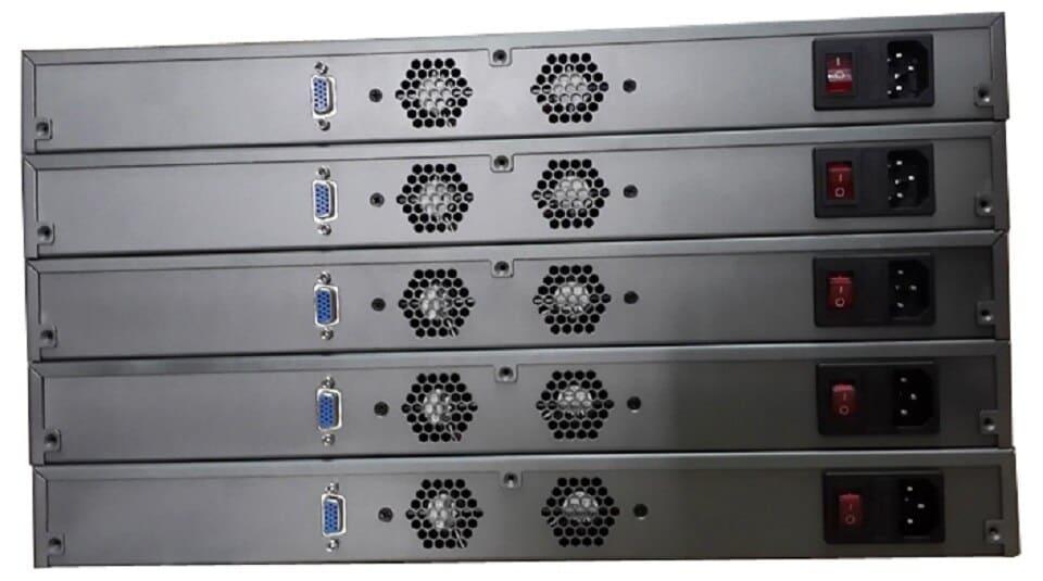 Partaker R11 Desktop Server 1U Firewall pfSense Router with 6 Gigabit LAN Intel Dual Core i7 3520M  Processor AES-NI ROS