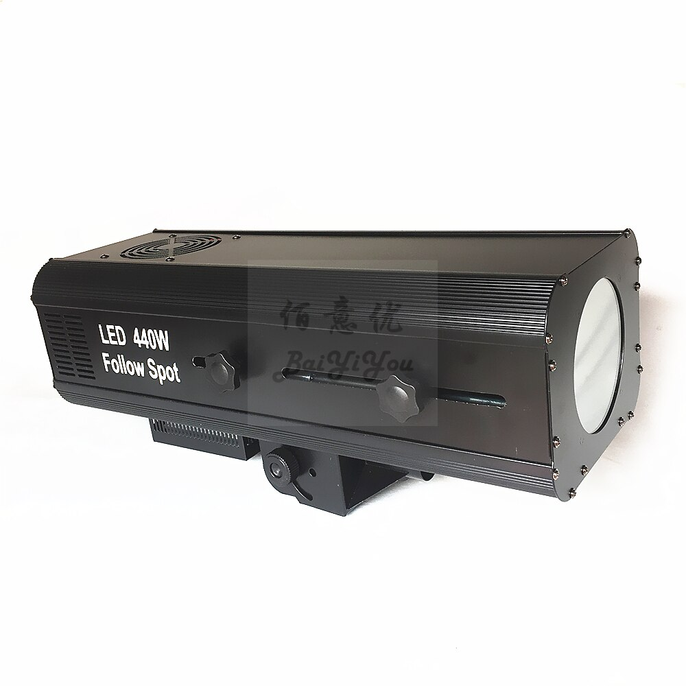 1pc/Lot Bright 440W LED Follow Spot Light Manual Double Focus Aperture Adjustable For Wedding Party Decoration With Flight Case
