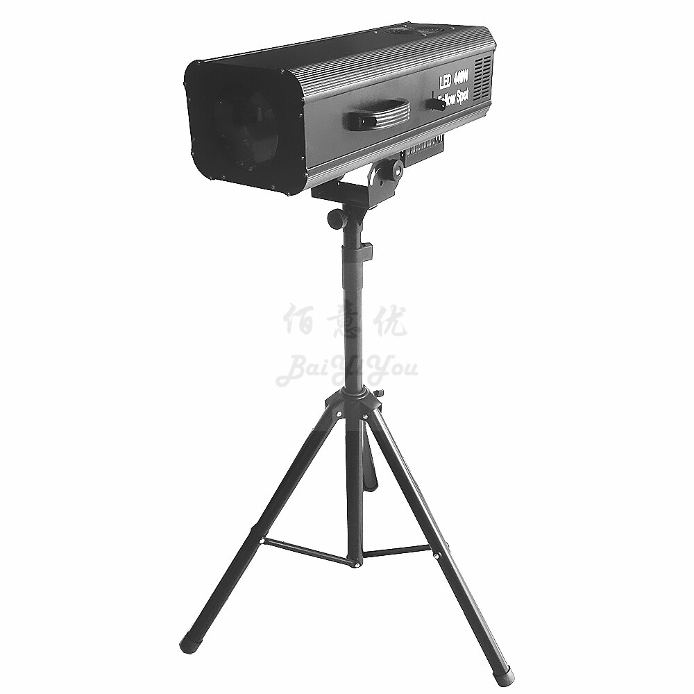 1x High Power LED 440W Follow Spot Stage Theatre Light With Manual Control Focus Color Iris Function Included Fly Case Stand