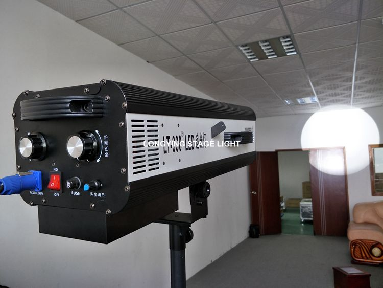 Free Shipping 2pcs/lot Super Bright 330W LED Follow Spot Light Tracker With 5 Pure Color And 1 Gobo For Wedding Theater