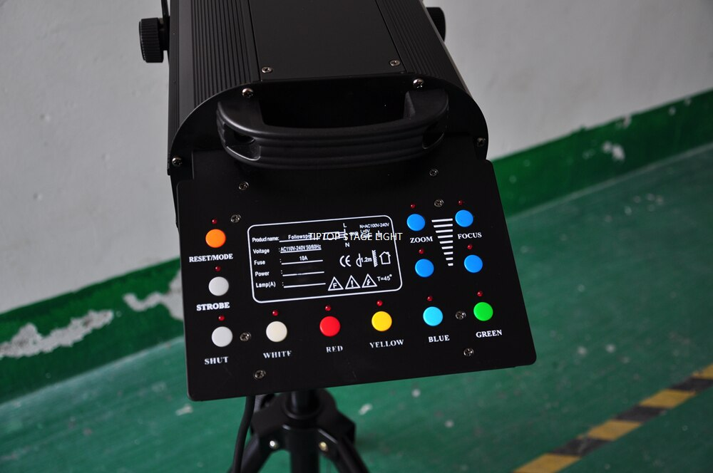 Freeshipping 350W 17R Stage Follow Spot Light Wedding Party Pattern Light Projector Par Cans High Brightness Round TP-350FS